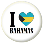 Bahamas Country Flag I Heart 25mm Button Badge